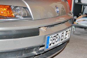 Maus krabbelt aus Motorraum